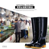 台灣現貨 雨季必備 純黑保暖PVC 防滑耐磨高筒雨靴 雨靴 雨鞋 高筒雨鞋 工地鞋 塑膠雨鞋 O37