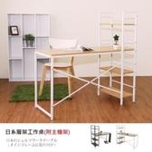 【Hopma】日系層架工作桌/書桌(附主機板)-胡桃木