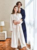 睡袍女浴袍珊瑚絨浴衣保暖男士家居服—聖誕交換禮物