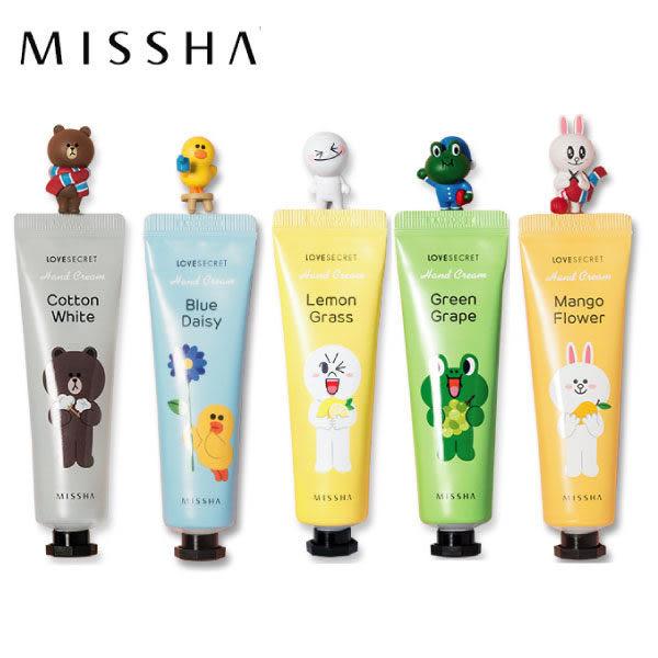 【Miss.Sugar】韓國MISSHA x LINE FRIENDS 愛戀香氛秘密護手霜(30ml)