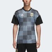 adidas 球衣 Argentina Home Pre-Match Jersey 藍 黑 男款 阿根廷國家隊 賽前熱身 【PUMP306】 CF1546