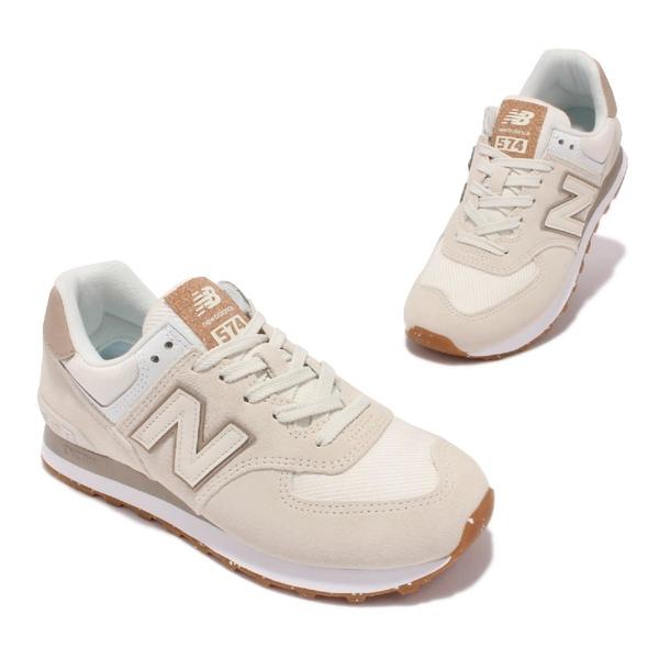 New Balance NB 574 休閒鞋 復古慢跑鞋 米白 粉紅 女鞋 紐巴倫 【ACS】 WL574SL2-B