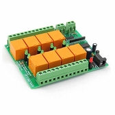 Denkovi 1-Wire繼電器板 8個繼電器220V 帶DS2408芯片組 12VDC [2美國直購]