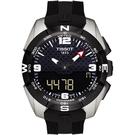 TISSOT 天梭 T-TOUCH 鈦金屬太陽能觸控 NBA 特別版手錶-黑/45mm T0914204720701