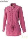 Wildland 台灣 女抗UV時尚長版襯衫 深粉紅 0A51211-32 彈性纖維 防曬罩衫 薄長袖 [易遨遊]