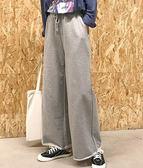 闊腿寬鬆女褲高腰闊腿褲女夏秋灰色新款韓版寬鬆直筒休閒垂感運動褲長褲子 99免運