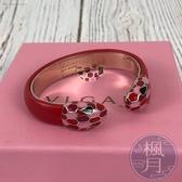 BRAND楓月 BVLGARI 寶格麗 情人節系列限定 粉紅雙邊蛇頭 經典蛇頭手環