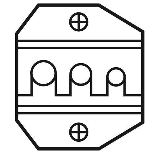 ProsKit寶工 1PK-3003D4  光纖接頭口模AMP RND.138.165.195