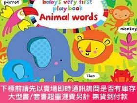 二手書博民逛書店罕見原版 寶寶的第yi本玩玩書 動物單詞 英文原版 Animal WordY454646 Fiona Watt