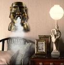 12h快速出貨 加濕器 桌面石像加濕器家用辦公室創意搞怪學生宿舍壁掛式空氣噴霧香薰機