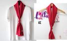 草魚妹-k1036絲巾長款純色絲巾餐飲空姐圍巾絲巾領巾長絲巾,售價150元