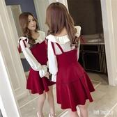 秋冬氣質兩件式洋裝減齡洋氣網紅套裝裙小香風甜美套裝高冷御姐風連身裙潮wl6219(bad boy時尚)