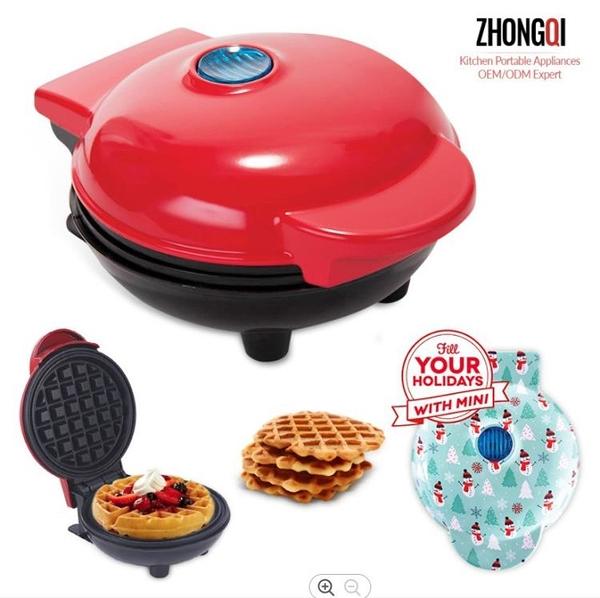 【新品現貨】跨境熱銷MINI WAFFLE MAKER華夫餅機 迷你早餐機兒童烘焙蛋糕機 中秋節特惠