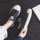 休閒鞋/平底鞋 春夏帆布鞋女新款春秋百搭一腳蹬懶人平底休閒布鞋單鞋