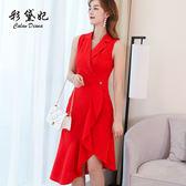 洋裝-春夏新款韓版休閒潮流修身顯瘦連身裙大碼百搭時尚女裝 Korea時尚記