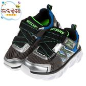 《布布童鞋》SKECHERS_HYPNOFLASH3.0銀藍色兒童機能電燈運動鞋(17~24公分) [ N9JLBLB ]