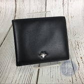 BRAND楓月 Christian Dior HOMME 黑色 蜜蜂 LOGO 二折 短夾 中夾 錢包