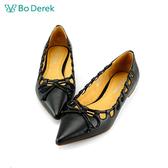 Bo Derek 繫繩造型尖頭包鞋-黑色