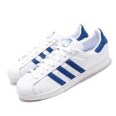 【海外限定】adidas 休閒鞋 Superstar 白 藍 男鞋 女鞋 小白鞋 貝殼頭 運動鞋【PUMP306】 EE8595
