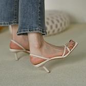 強推~巨舒服 細跟鞋女夏性感2021新款夾趾高跟鞋涼鞋女 羅馬鞋子 果果輕時尚