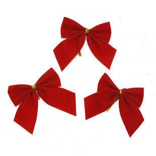 聖誕節用品裝飾聖誕掛件 聖誕樹掛件 小蝴蝶結12個/板22g