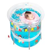 嬰兒遊泳池  家用新生兒童加厚透明 洗澡桶 充氣支架保溫池 寶寶遊泳桶【店慶8折促銷】