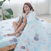 [小日常寢居]#U123#舒柔超細纖維3.5x6.2尺單人床包+枕套+雙人舖棉兩用被三件組-台灣製(限2組超取)
