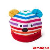 WHY AND 1/2 mini 經典彩條搖粒絨嬰兒帽