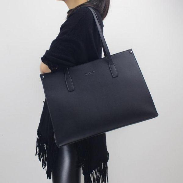 女士大包包簡約側背包大容量真皮女包筆記本電腦包托特公文通勤包   LX  韓流時裳