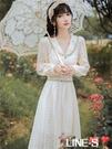 2020復古秋法式小眾宮廷復古溫柔輕熟洋裝收腰超仙森系禮服長裙