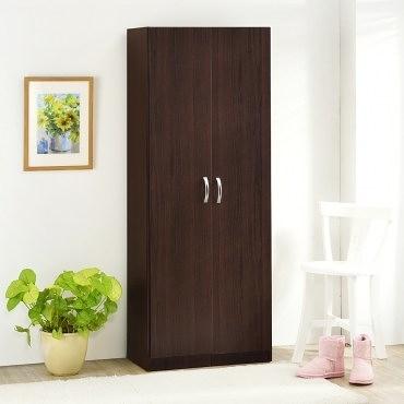 【Hopma】簡易二門高鞋櫃/收納櫃-胡桃木