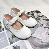 《7+1童鞋》日本娃娃 DOLLS 腳背花圈 休閒鞋 娃娃鞋 公主鞋 E625 白色