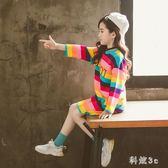 中大尺碼 大女童t恤長袖新款韓版洋氣秋裝純棉上衣長款兒童打底衫 js20275『科炫3C』