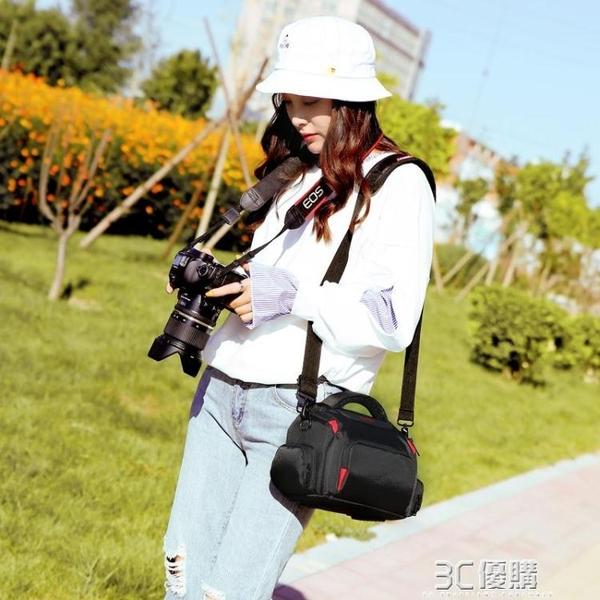 佳能相機包 單反單肩攝影EOS800D750D200D 60D70D80D600D 6D2便攜 3C優購