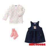MIKI HOUSE  可愛兔兔牛仔背心洋裝禮盒