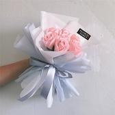母親節特別禮物7支香皂玫瑰花束 創意送花女友生日手捧花婚禮ins 幸福第一站