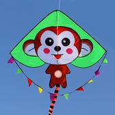 小猴子兒童風箏猴年新三角帶長尾微風易飛初學者多色 交換禮物  YYS