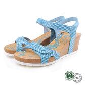 【Panama Jack】蛇紋楔形女涼鞋 水藍 (PSW47-LBU)