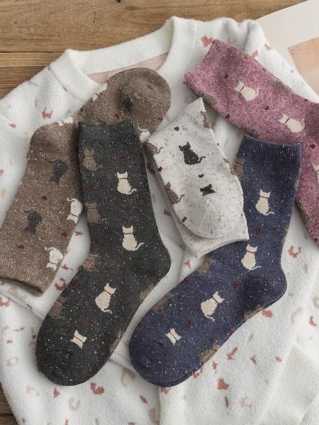 中長襪子女中筒襪ins潮日系可愛韓版秋冬季羊毛加厚保暖韓國長筒 喵小姐
