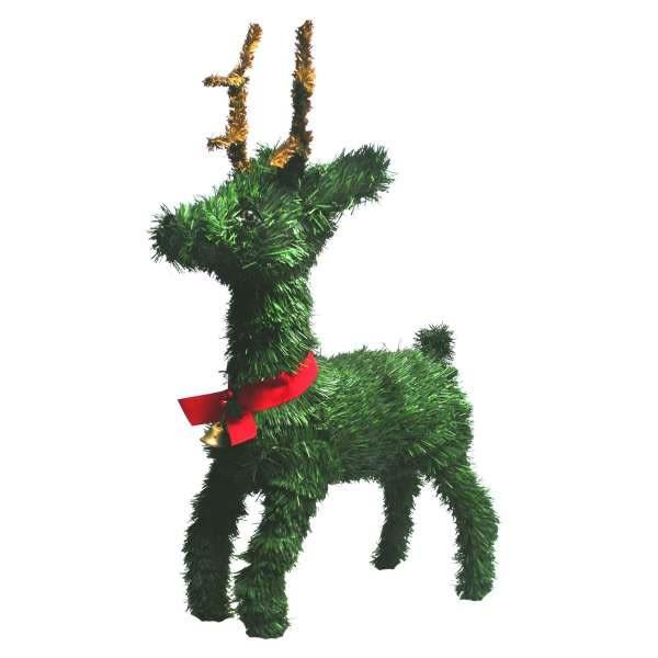 【摩達客】16吋綠色鈴鐺小鹿