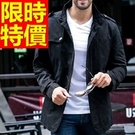 男軍裝外套自信-韓版修身時尚立領男夾克2色62o16【巴黎精品】