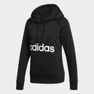 Adidas Essentials Linear 女裝 長袖 慢跑 休閒 連帽 棉質 排汗 黑【運動世界】S97081