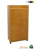 【環保傢俱】塑鋼碗盤櫃,茶水櫃.置物櫃.廚房櫃 (整台可水洗)265-04