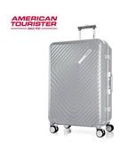 AT美國旅行者 ESQUINO PC鋁框 煞車輪 旅行箱/行李箱-28吋(銀) GN1