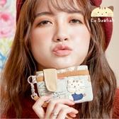 悠遊卡套~雅瑪小舖日系貓咪包 啵啵貓出國旅遊證件套/零錢包/拼布包包
