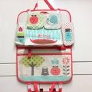 日本 Decole 車用掛袋+面紙收納袋 車用多層置物袋 可愛收納袋-紅點點蘋果-超級BABY