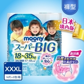 滿意寶寶 日本 MOONY 頂級超薄褲型紙尿褲男用 XXXL 84片-箱購
