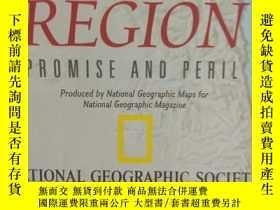 二手書博民逛書店National罕見Geographic國家地理雜誌地圖系列之1999年5月 Caspian Region 裏海地