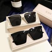 方形大框墨鏡潮男女網紅款黑色偏光開車太陽眼鏡 糖糖女屋