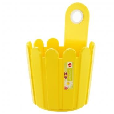 LANDHAUS 可吊式圓型花槽-黃
